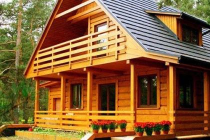 Дачный дом из древесины в Талдоме