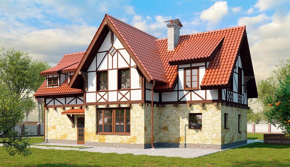 Строительство немецких домов в Талдоме.