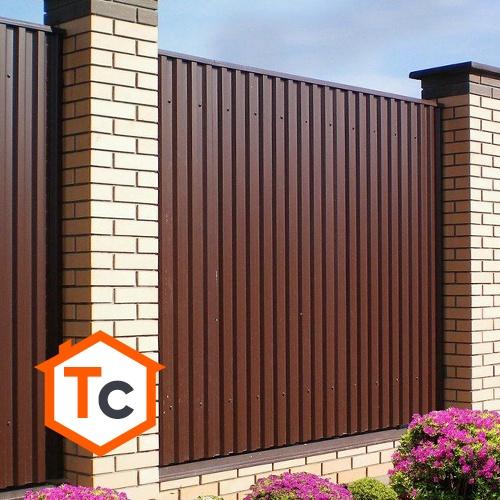 Забор из профнастила в Талдоме.